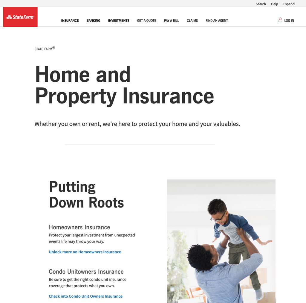 State Farm Website Home Insurance Page